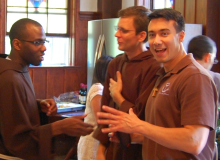 . . . and here with Br. Tage and Postulant Andre Repucci