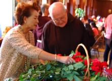Fr. Bob takes an interest in flowers.